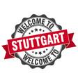 stuttgart round ribbon seal vector image