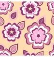 Nature seamless pattern with pink sakura and leaf vector image vector image