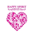 Spirit day heart vector image vector image