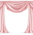 Big pink curtain isolated on a white background vector image