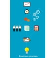 Conceptual business process vector image