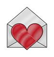 letter heart flat scribble vector image