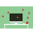 malware virus security attack vector image