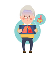 Senior Man Having Pneumonia vector image