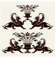 set of heraldic ornaments vector image