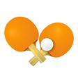 Two racket for table tennis on a white background vector image