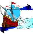 vintage military sailboat vector image