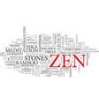 zen word cloud concept vector image