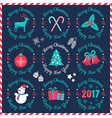 set christmas banners dark 2017 vector image vector image