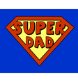 Funny super dad shield vector image