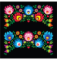 Polish floral folk embroidery patterns for card o vector image