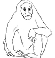 uakari animal cartoon coloring page vector image