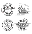 Set poker emblems vector image