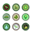 bottle caps vector image