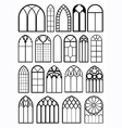 Window frame silhouettes vector image