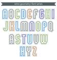 Poster light elegant font with outline vector image