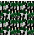 Group of students - seamless pattern vector image
