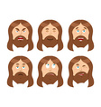 Jesus Emotions Set expressions Picture of Jesus vector image