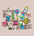 Modern thin line design concept for tactics icon vector image