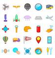Balloonist icons set cartoon style vector image