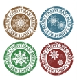 Grunge Merry Christmas stamps vector image