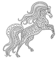 Hand drawn horse for antistress Coloring Page with vector image