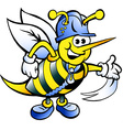 Hand-drawn of an Happy Working Bee vector image