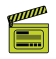 Isolated clapboard design vector image