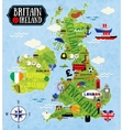 Maps of Britain and Ireland vector image