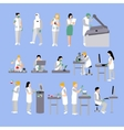 set of people in medical laboratory vector image