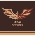 Template logo for legal notary vector image