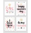 Valentine s Day Calligraphic Set vector image