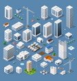 industrial based on isometric projection vector image