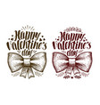 happy valentine day greeting card holiday label vector image