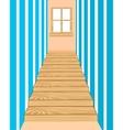 Wooden stairway in corridor vector image