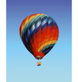 balloon with a basket vector image