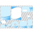 corporate design template - blue ray concept vector image vector image