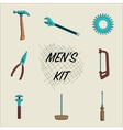 Set of Different Tools Hand Drawn vector image