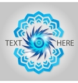 Blue abstract element vector image