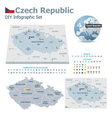 Czech Republic maps with markers vector image