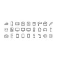 icons set household appliances for home and vector image