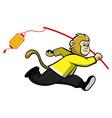 Monkey And Lantern vector image