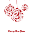 New year balls postcard vector image