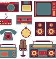 set of retro gadgets vector image