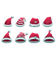 set red santa hat isolated on white vector image