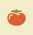 stylized flat icon of a tomato vector image
