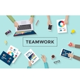 Concept design of business teamwork meating and vector image