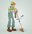 Gardener with Reaper vector image