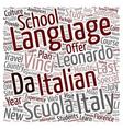 Scuola Leonardo Da Vinci Announces The New Last vector image