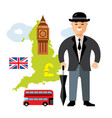 united kingdom travel concept flat style vector image